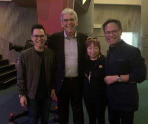 Dr. Lawrence Khong, Senior Pastor of Faith Community Baptist Church, his wife Nina and his son,Daniel - Singapore - November 2019
