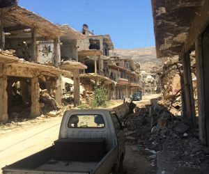 Houses Destroyed During the War in Zabadane, Syria